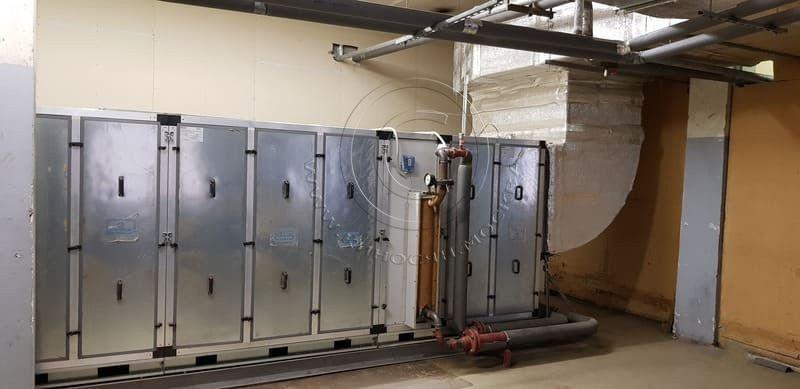 AO Bolshevichka-Приточная вентиляционная установка в вентиляционной камере.