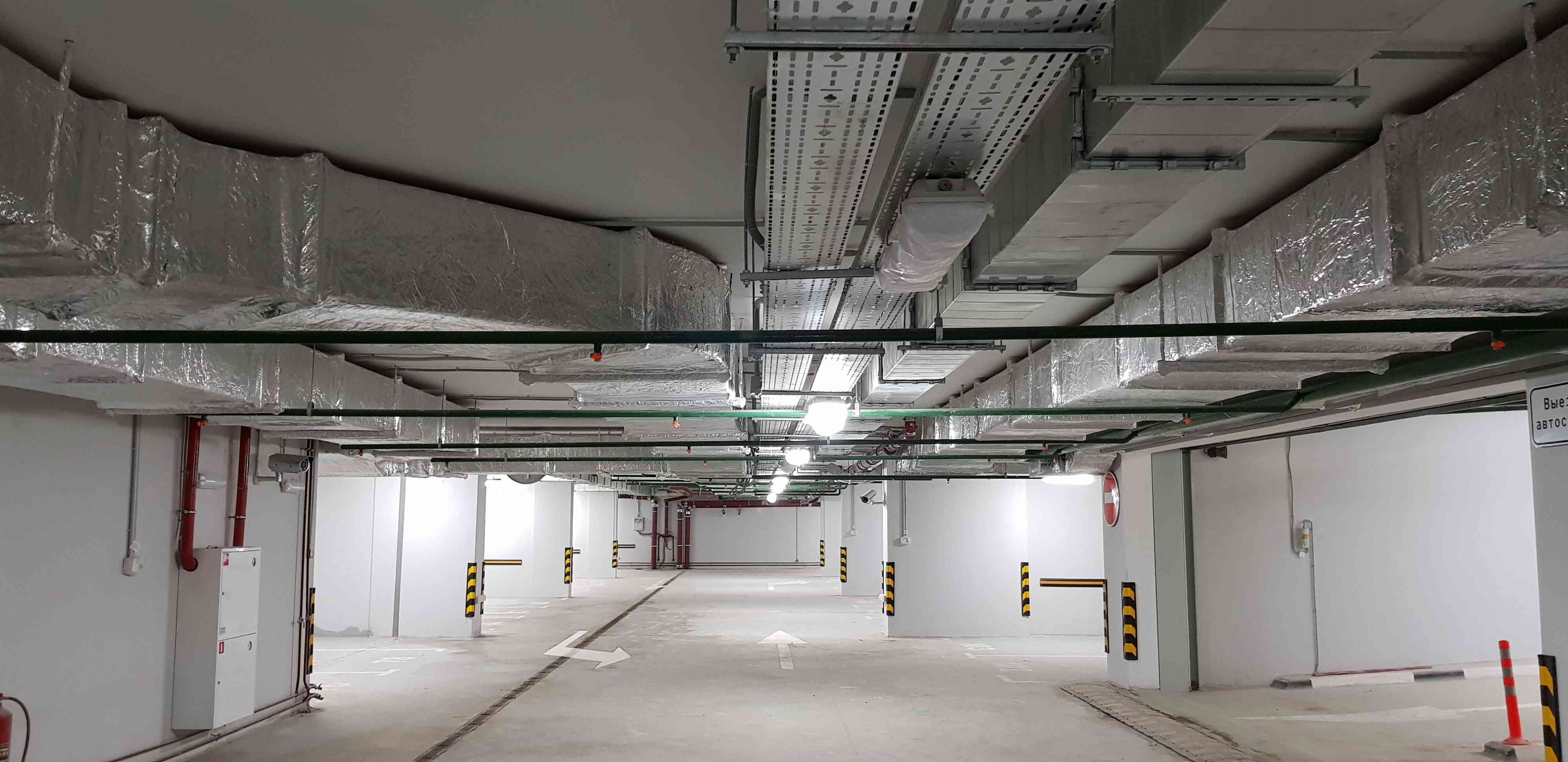 Отопление подземной парковки водяными калориферами